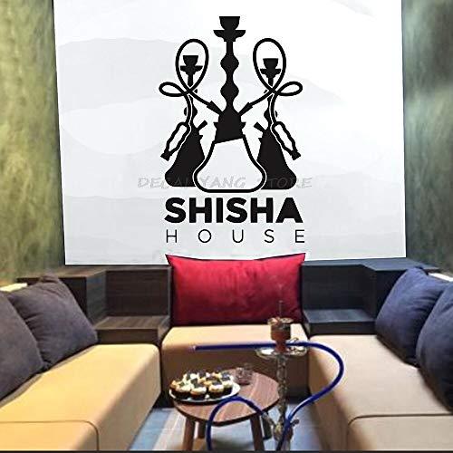 Tianpengyuanshuai Shisha Home Wandaufkleber Kunst Wandaufkleber Wohnkultur Schlafzimmer Dekoration Shisha Bar Muster entfernbar selbstklebend-57x37cm