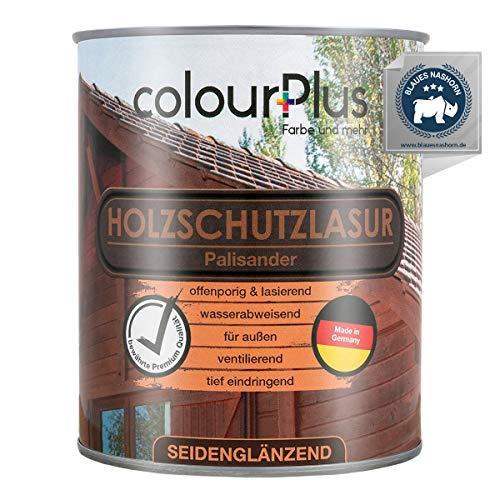 colourPlus® Holzschutzlasur (750ml, Palisander) seidenglänzende Holzlasur Außen- Holz Grundierung - Holz Lasur - Holzlasur Aussen - Made in Germany