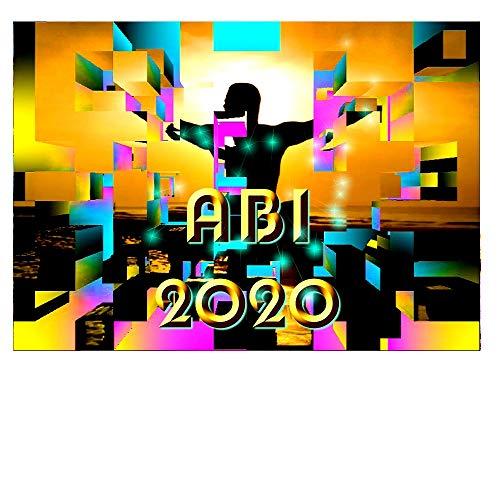 DigitalOase Einladungskarten ABI 2020 ABI-Ball ABI-Party 2 Klappkarten 2 Kuverts Format DIN A6#CAP