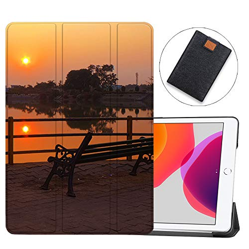 SDH Case for iPad 10.2 Inch 2019, Microfiber Lining Hard Back Shell with Auto Wake/Sleep, Slim Lightweight Trifold Smart Stand Cover for iPad 7th Generation 10.2' 2019,Sunset sunrise13