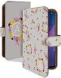 iPhone8 Plus ケース 手帳型 イニシャル A iphone8plus アルファベット t0640