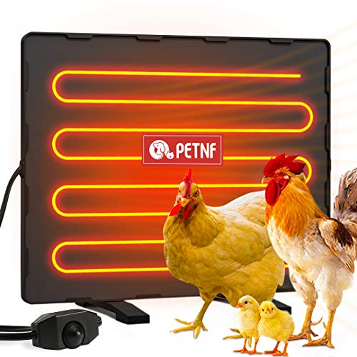 petnf Chicken Coop Heater 140 Watts Radiant Heat Chicken Heater Energy Efficient Design Safer Than Brooder Lamps Heater for Chicken Coop, Heating Wire UL-Compliant Two Ways to Use, 11.81''x15.74''