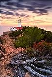Lienzo 60 x 90 cm: Lighthouse Punta de Capdepera (Cala Ratjada / Mallorca) de Dirk Wiemer - cuadro terminado, cuadro sobre bastidor, lámina terminada sobre lienzo auténtico, impresión en lienzo