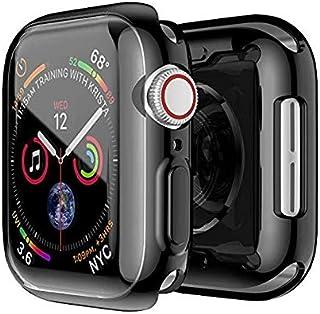 جراب Smiling Case for Apple Watch Series 4 & Series 5 مع واقي شاشة شفاف من البولي يوريثان اللدن بالحرارة 44 مم - جراب واقٍ...
