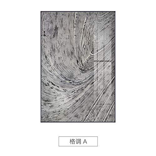 XUML Abstract Minimalistisch Zwart n Wit s Wall Art Pictures Print Home Decor Canvas Schilderijen voor Slaapkamer woonkamer Grijs 70x100cm(No Frame) A