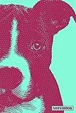 Notebook: American Staffordshire Bull Terrier Notebook (Blue)