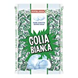 Golia Bianca, Caramelle Dure al Gusto Menta e Liquirizia, Formato Scorta, Busta da 1 kg, C...