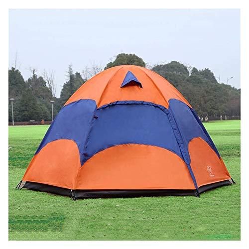 pwmunf Tienda de la Familia de Camping al Aire Libre Configurar fácilmente Tiendas de Mochila Tiendas de campaña Ligeras para Instalar Tiendas de campaña Impermeables (Color : Orange)