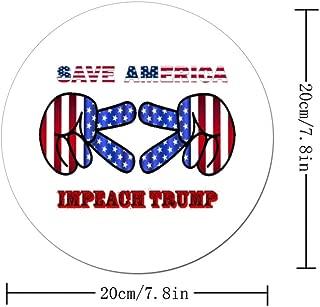 Save America Impeach Donald Trump Funny Stitched Edge Non-Slip Rubber Mouse Pads