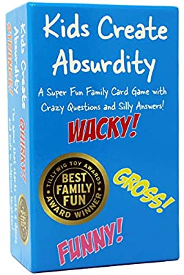 Kids Create Absurdity: Warning: Will Cause Belly Laughter! A Family-Card-Game For Kids With Funny Questions and Hilarious Answers Fun For Kids-Adults-Boys-Girls Easter Gift For Family Game Night from Kids Create Absurdity
