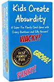 Kids Create Absurdity: Warning: May Cause Belly Laughter! A Family-Card-Game for Kids with Funny Questions and Hilarious Answers Fun for Kids, Adults, Tweens Great Easter Gift for Family Game Night