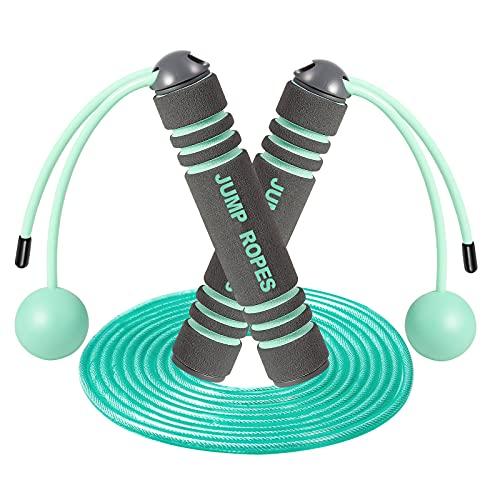MUGUT Springseil,Verstellbare Speed Rope,Seilspringen mit Profi Kugellager & Anti-Rutsch Griffe,für Training, Fitness, Jump Rope ohne seil für Kinder und Erwachsene-Grün