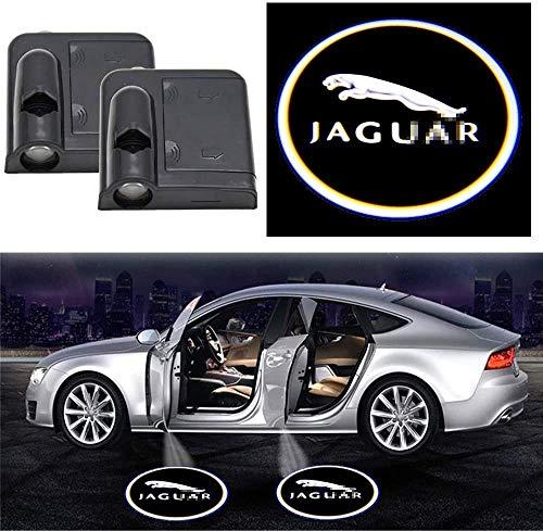 Luz de Puerta de Coche Logo Proyector, 2pcs Conexión inalámbrica de automóviles LED Emblem Logo Proyectores, Fantasma Shadow Light Paso de entrada Lámpara de cortesía para JA-GU-AR (sin necesida