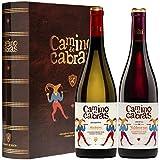CAMINO DE CABRAS Estuche de vino – Albariño D.O. Rías Baixas Vino blanco + Mencía Crianza D.O. Valdeorras Vino tinto –Producto Gourmet - Vino para regalar - 2 botellas x 750 ml.