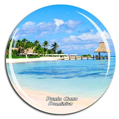Karibisches Meer Saona Island Punta Cana Dominica Kühlschrankmagnet 3D Kristallglas Touristische Stadtreise City Souvenir Collection Geschenk Starker Kühlschrank Aufkleber