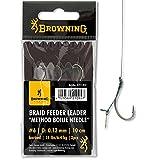 Browning #6 Braid Feeder Leader Method Boilie Needle Bronze 6,4kg,14lbs 0,12mm 10cm 3Stück,