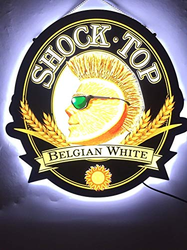 Desung Revolutionary Shock Top Belgian White 3D LED Neon Light Sign (Multiple Sizes Available) Vivid Printing Tech Design Decorate 3rd Generation LED Sign 17'' LE12M