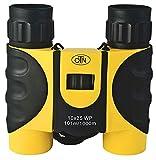 OutNowTech Jumelles Pliantes Ultra compactes 10x25 Jaune et Noir