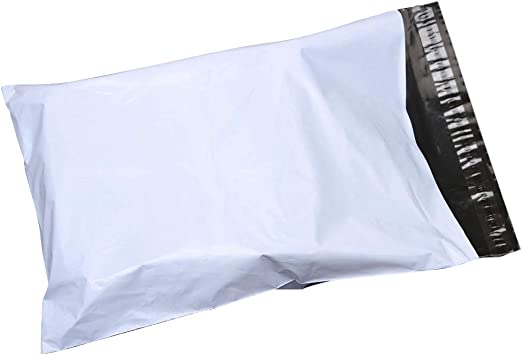 25 24x24 White Poly Mailer Plastic Shipping Envelope Polybags Polymailer