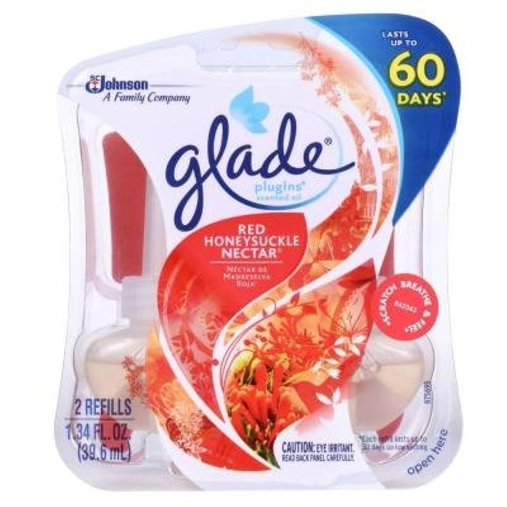 サーフィン消費先生【glade/グレード】 プラグインオイル 詰替え用リフィル(2個入り) レッドハニーサックルネクター Glade Plugins Scented Oil Red Honeysuckle Nectar 2 refills 1.34oz(39.6ml) [並行輸入品]