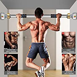 a man workout with pul up bar - home gym equipment