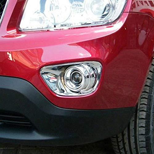 Kadore Nebelscheinwerferabdeckung für Jeep Compass 2011 2012 2013 2014 2015 ABS Chrom 2 Stück
