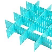 Cutlery tray コンビネーション32x7cmシンプルなスタイル引き出しストレージアーティファクトのためにキッチン/キャビネット/デスク/机を切削引き出し分周器無料の8/12/16/20シート (Color : B, Size : 16Packs)