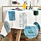 LOHASCASA Square Vinyl Oilcloth Tablecloth Waterproof Wipeable PVC Heavy Duty Plastic Party Spill Proof Tablecloths for Cardtable Tablecloth - Colorful Leaves 4Ft 54 x 54 inch