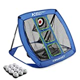 Rukket Pop Up Golf Chipping Net | Outdoor/Indoor Golfing Target Accessories and Backyard Practice Swing Game with 12 Foam Training Balls (Classic Blue)