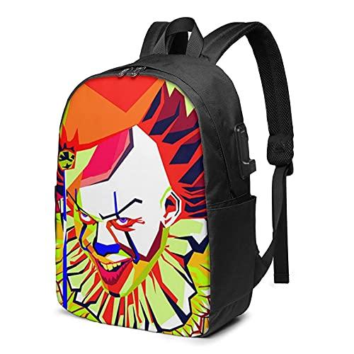 Mochila para portátil de viaje Trolls World Tour, ajustable, con puerto de carga USB, para auriculares, bolsa grande para trabajo escolar, regalo de colegio