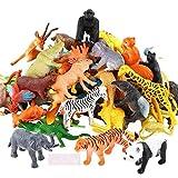 La-La Toys 24pcs Animal Toy Figures jungle- Wild, Farm (24pcs Mix small)