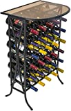 Sorbus Wine Rack Stand Bordeaux Chateau Style with Glass Table - Holds Bottles of Wine - Elegant French Style...