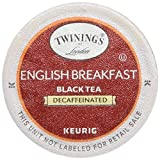 Twinings of London Decaffeinated English Breakfast Tea K-Cups for Keurig, 48 Count