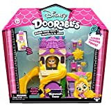 Doorables 35014 Princesa Disney Rapunzels Turm, 3 figuras exclusivas con ojos brillantes y muchos accesorios, juego de juguetes para niños a partir de 5 años, multicolor , color/modelo surtido