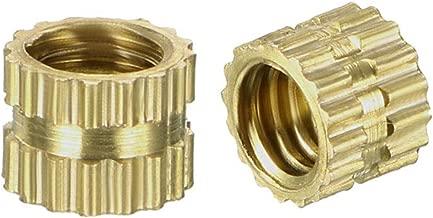 uxcell Knurled Threaded Insert, M4 x 4mm L x 5mm OD Female Thread Brass Embedment Nuts, Pack of 100