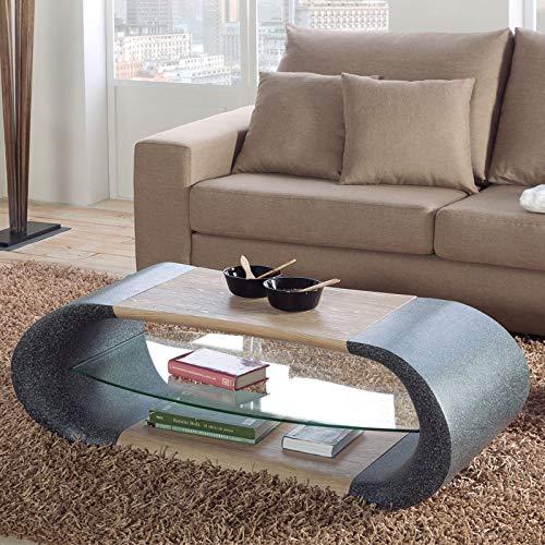 M-116 salontafel, design graniet-effect en hout Valerie