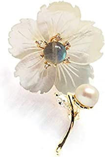 CCijiNG Brooches and Pins for Women with Crystal,Flower Lapel Pin Blossom Brooch Jewelry Gifts,Fashionable Accessories Flo...