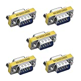 SIENOC 5X 9 Pines RS-232 Serial DB9 Conector Macho a Hembra Cable Adaptador de acoplador de Cambiador de género