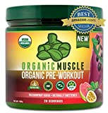 ORGANIC MUSCLE #1 Rated Organic Pre Workout Powder– Natural Vegan Keto Pre-Workout & Organic Energy Supplement for Men...