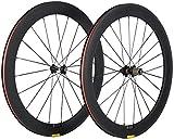 Bike Carbon Drahtreifen 700c 60mm Rennrad Räder Matt Finish 23mm Felge