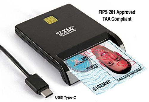 Stanley Global SGT111-9c CAC PIV Smart Card Reader (USB C) (FIPS 201) (TAA Compliant)