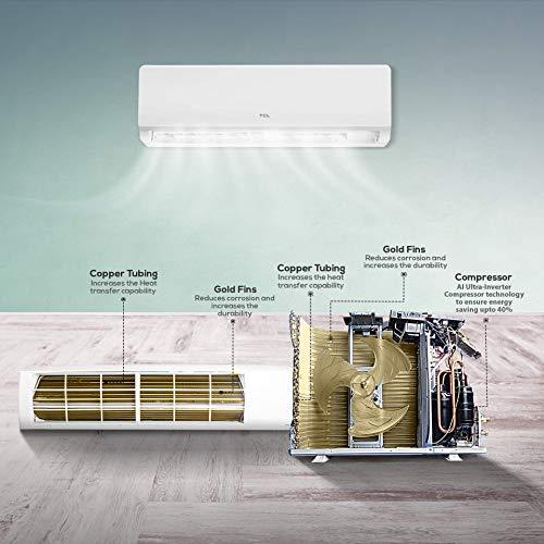 TCL Elite Turbo 1.5 ton 3 Star Ultra-Inverter Split AC (Copper, TAC-18CSD/V3, White, Fast cooling)