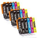 Jagute 364XL Cartuchos de Tinta Reemplazo para HP 364 XL Tinta, Compatiable con HP Photosmart 5510 5515 5520 5522 6510 6520 7510 7520 B8550 C5388 D7560, HP Officejet 4620, HP Deskjet 3070A 3520