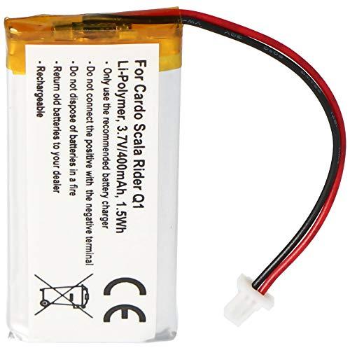 Batería para Cardo Rider Q1, Scala Rider Q1, Q3, Scala Rider Q3, FM, Solo Akku WW452050PL, WW452050PL_C