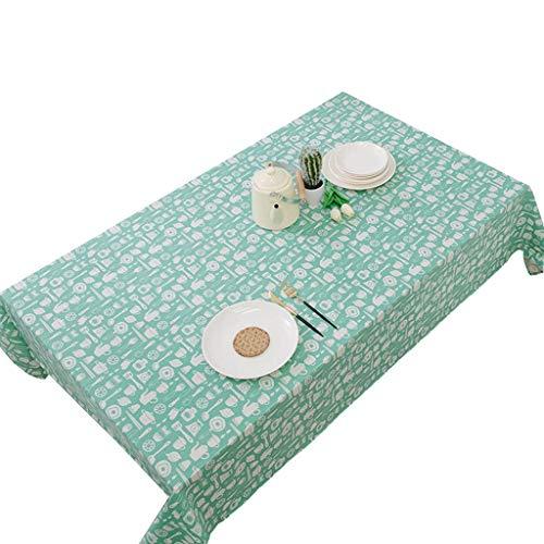 XIANWEI Cotton Linen Tablecloth Kitchen Rectangular Tablecloth Antifouling Cloth Decorative Tablecloth Various Sizes (Size : 120X120CM)