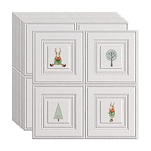 SHUAIGE Pegatinas para azulejos en 3D, para cocina, baño, pared, paneles para salpicaduras, para pared o cocina, 70 x 70 cm (tamaño: 20 unidades, color: 2)