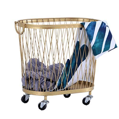 Cesta de ropa de cesto de lavandería portátil Cesta de almacenamiento de ropa de lavandería de hierro nórdico Cesta de almacenamiento de ropa para el hogar Cesta de almacenamiento Cubo de lavado durad