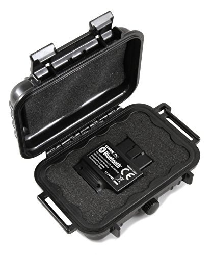 CASEMATIX Waterproof Auto Scanner Case Compatible with Bluedriver Obd2 Scanner Bluetooth Device Blue Driver Bluetooth Pro OBDii, Includes Case Only