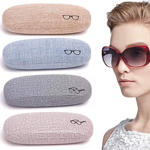 Funda Protectora De Tela De Lino Para Gafas Estuche De Gafas Resistente Al Uso Estuche De Gafas Vintage Elegante Estuche Portátil Lindo Para Gafas Para Mujeres Y Hombres 4 Piezas(Color Aleatorio)