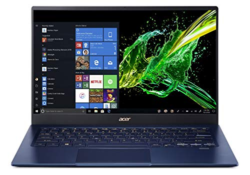 Acer Swift 5 Intel Core i5 10th Gen 14-inch Full HD IPS 1920 x 1080 Display Ultra Thin and Light Laptop (8GB Ram/512GB SSD/Windows 10 Home/Charcoal Blue/0.99kg), SF514-54T